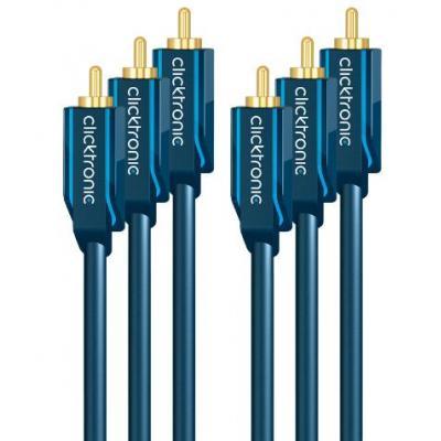 Clicktronic : 5m YUV Component - Blauw