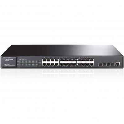 TP-LINK switch: JetStream 24-Port Gigabit L2 Managed Switch with 4 SFP Slots, 24 10/100/1000Mbps RJ45 ports, 4 SFP .....