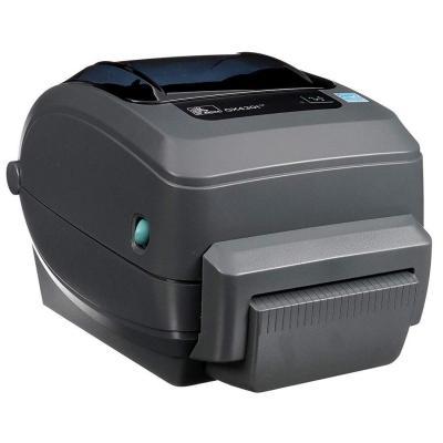 Zebra GX430t TT - USB - Ethernet - Snijsysteem Labelprinter - Grijs