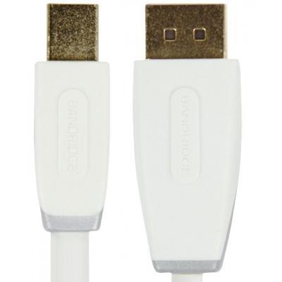 Bandridge : 2m Mini DisplayPort - DisplayPort m/m - Wit
