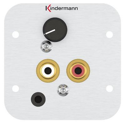 Kindermann 7441000418 Wandcontactdoos - Aluminium