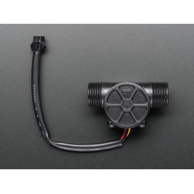 Adafruit temperatuur en luchtvochtigheids sensor: Liquid Flow Meter