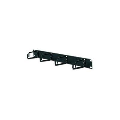 Apc rack toebehoren: Horizontal Cable Organizer 1U - Zwart