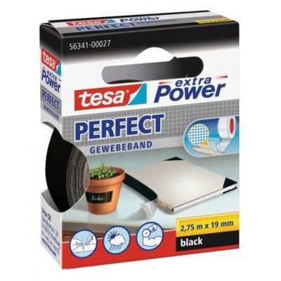 Tesa plakband: Extra Power 19mmx2.75m - Zwart