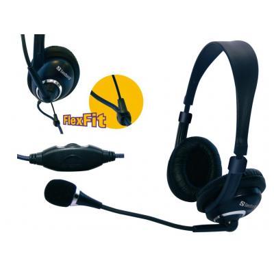 Sandberg headset: Headset One - Zwart