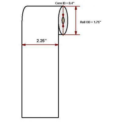 "Datamax o'neil thermal papier: Premium 2.25"" x 74'"