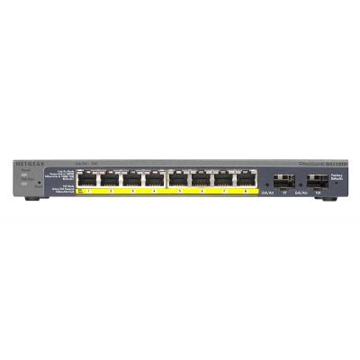 Netgear ProSafe  GS110TP 8-poorts PoE Managed switch - Zwart