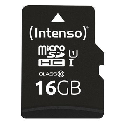 Intenso 16GB microSDHC Flashgeheugen