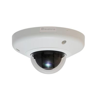"LevelOne 5 MPix, 1/3.2"" CMOS, RJ-45, F 2.8, f 1.9 mm, H.264, 446 g Beveiligingscamera - Wit"