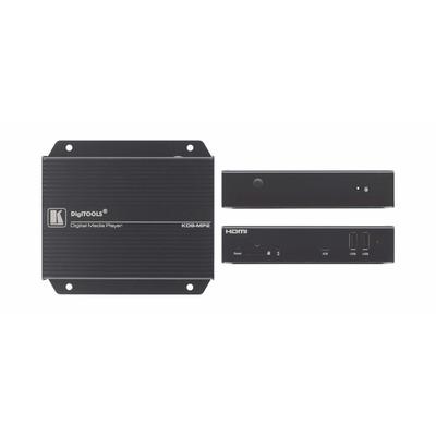 Kramer Electronics 1080p Full HD, HDMI, 2x USB 2.0, Ethernet, 6W, 0.4kg, Black Mediaspeler - Zwart