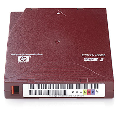 Hewlett Packard Enterprise LTO-2 Ultrium Datatape - Rood