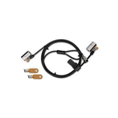 Kensington kabelslot: ClickSafe® Round Keyed Twin-laptopslot Single Keyed - Zwart