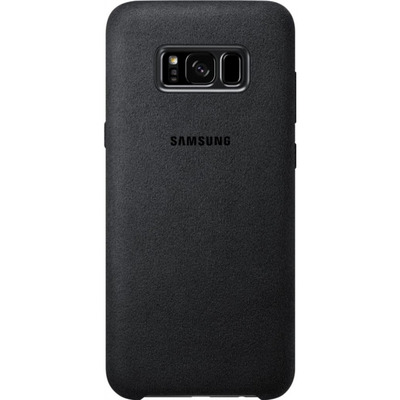 Samsung Galaxy S8+ Alcantara Cover Zwart Mobile phone case - Zilver