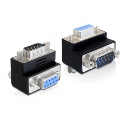 DeLOCK Adapter, Sub-D 9 pin, Male/Female, 270° angled Kabel adapter - Zwart