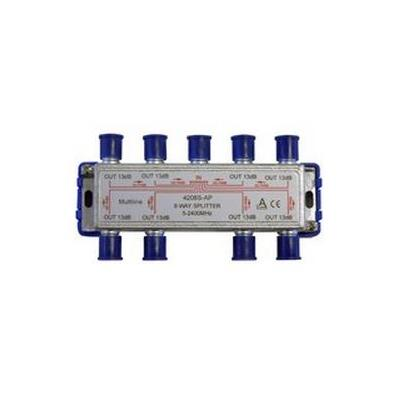 Maximum kabel splitter of combiner: Splitter 8 way 5-2250 MHz 8xdc - Grijs