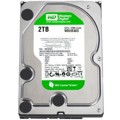 "Acer interne harde schijf: HDD WD 8.89 cm (3.5"") 5400rpm 2000GB WD20EARS-22MVWB0 (GP667-3D) SATA II LF F/W:51.0AB51"