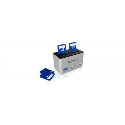 Icy box geheugenkaartlezer: IB-880 - Zwart, Zilver