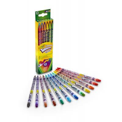 Crayola potlood: 12 Draaikleurpotloden met gum - Multi kleuren