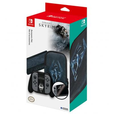 Hori : Skyrim Accessory Set for Nintendo Switch - Zwart