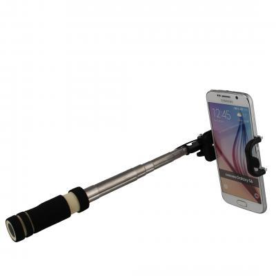 Qtrek : Universal Selfie stick black - Zwart