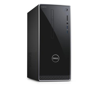 Dell pc: Inspiron DT 3668 - Core i3 - 1TB - 8GB RAM - Windows 10 Pro - Zwart