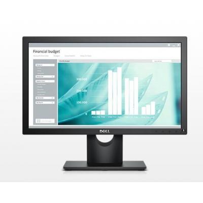"DELL monitor: E Series 46.99 cm (18.5 "") TN 1366x768, 16:9, 220cd/m2, 600:1, 60Hz, 5ms, VESA 100x100, DisplayPort, VGA, ....."