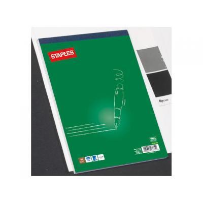 Staples schrijfblok: Schrijfblok SPLS A4 lijn recycled/pak 5