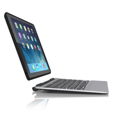 Zagg mobile device keyboard: Slim book - Zwart, Zilver