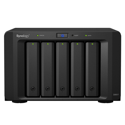 "Synology DX517, 5x 2.5/3.5"" SATA HDD/SSD, eSATA, 21.5 dB, 100-240 V, 50/60 Hz, 200 W, 157 x 248 x 233 mm, 3910 ....."