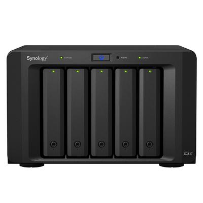 "Synology DX517, 5x 2.5/3.5"" SATA HDD/SSD, eSATA, 21.5 dB, 100-240 V, 50/60 Hz, 200 W, 157 x 248 x 233 mm, 3910 ....."