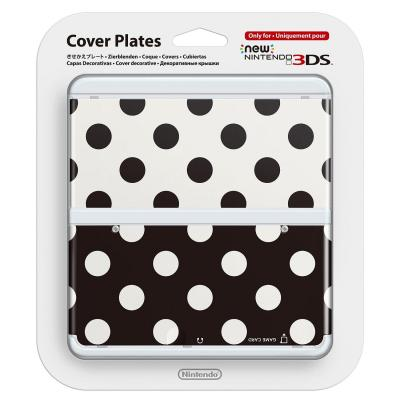 Nintendo portable game console case: New 3DS Cover 015 - Zwart, Wit