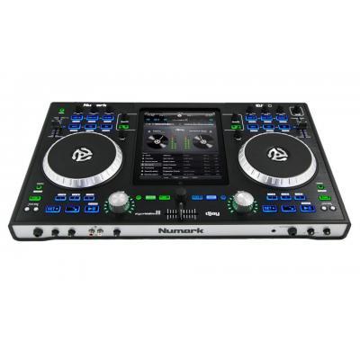 Numark dj mixer: Premium DJ Controller f/ iPad, SNR 105dB, 20Hz – 20kHz, XLR/RCA - Zwart, Zilver
