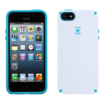 Speck apparatuurtas: iPhone 5 / 5s / SE CandyShell (White / Peacock Blue)