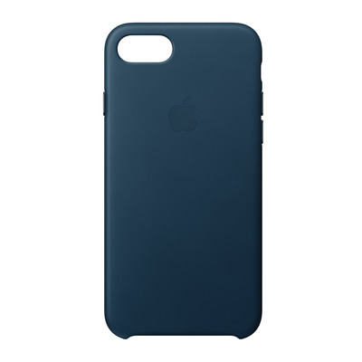Apple mobile phone case: Leren hoesje voor iPhone 8/7 - Kosmosblauw