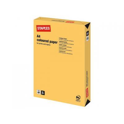 Staples papier: Papier SPLS A4 80g diepgeel/pak 500v