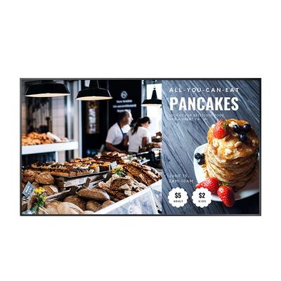 "AG Neovo 64.5"" LED-Backlit TFT LCD, 3840 x 2160, 350 cd/m², 4000:1, 5ms, RMS 20W Public display - Zwart"