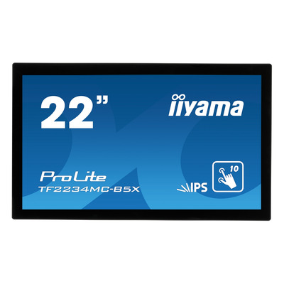 "Iiyama touchscreen monitor: ProLite TF2234MC-B5X, 54.61 cm (21.5"") , 1920x1080, IPS LED, 16:9, 8 ms, projective ....."