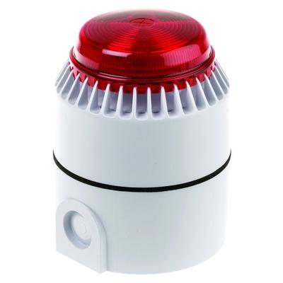 Kentix Sounder (Outdoor) f/ Systemport, Indoor / Outdoor, 110 dB, IP65 Alarm ringer - Rood,Wit