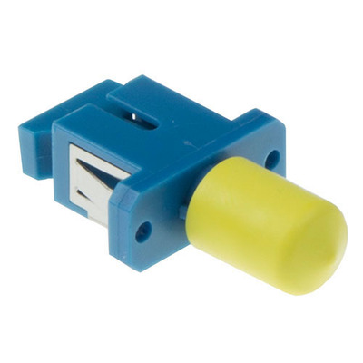 ACT Fiber optic SC-ST simplex adapter Fiber optic adapter - Blauw,Geel