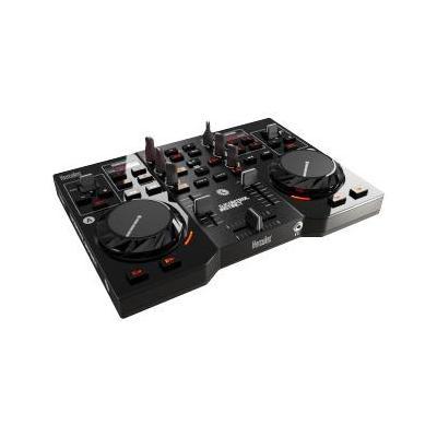 Hercules DJ controller: 2x RCA, 32 - 600 Ohm, 16-bit, USB, 1000g, Zwart