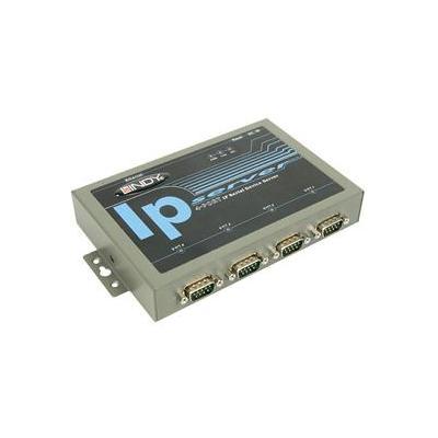 Lindy Ip communicatieserver: 4 Port IP Serial Server
