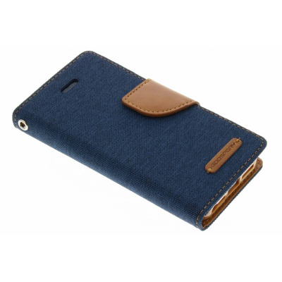 Canvas Diary Booktype iPhone SE / 5 / 5s - Blauw / Blue Mobile phone case