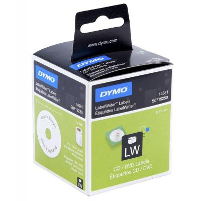Dymo etiket: CD/DVD Labels - Zwart, Wit