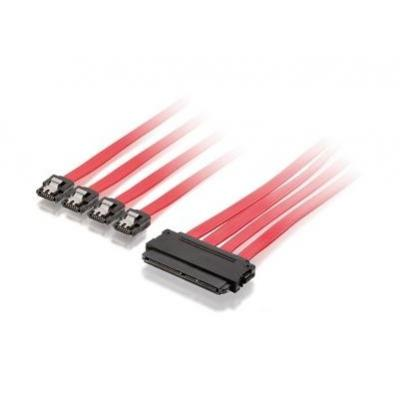 Equip electriciteitssnoer: SATA power supply cable, 1.0m - Rood