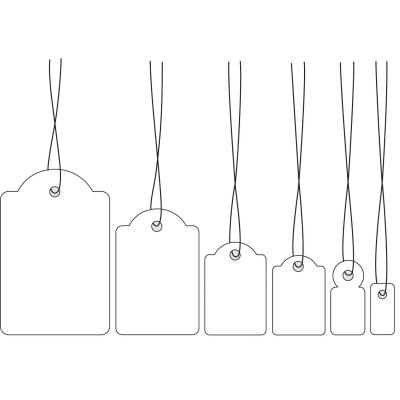 Herma label: Strung marking tags 32x50 mm with white string 1000 St