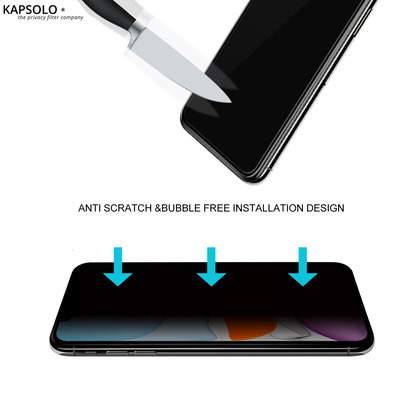 KAPSOLO Privacy Tempered GLASS Screen Protection, Be Visual Hacked No More - Protects your sensitive and private .....