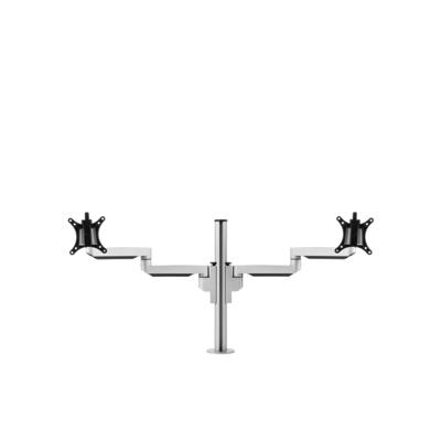 BakkerElkhuizen Filex Galaxy Modular Dual Monitorarm - Zwart, zilver