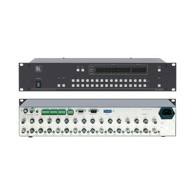 Kramer Electronics 16x16 Composite Video Matrix Switcher (90MHz) Video switch - Zwart,Metallic