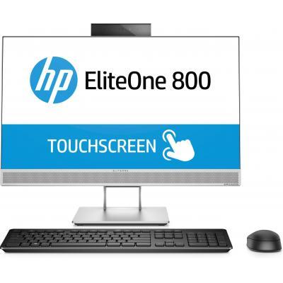 Hp all-in-one pc: EliteOne 800 G3 - Zwart, Zilver (Renew)