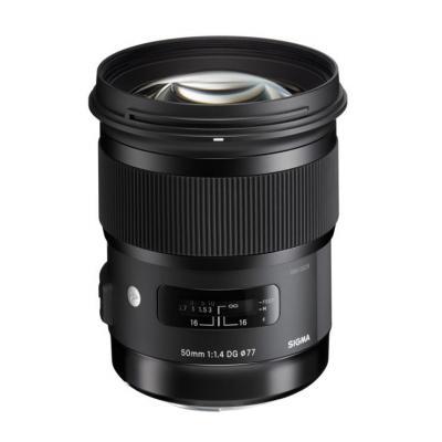 Sigma camera lens: Art, 50mm F1.4 DG HSM - Zwart